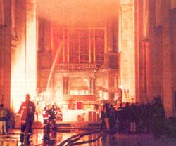 Incendie criminiel à Turin