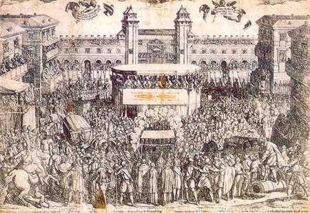 Ostension du Saint Suaire, le 4 mai 1613, à Turin